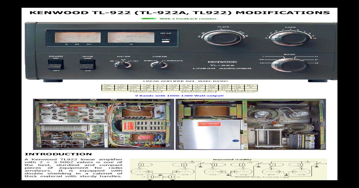 KENWOOD TL-922 (TL-922A, TL922) TL-922 (TL-922A, TL922