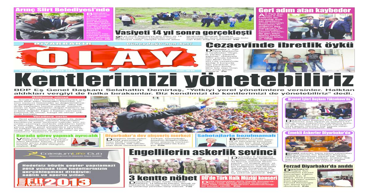 11 05 2013 Gazete Sayfalar