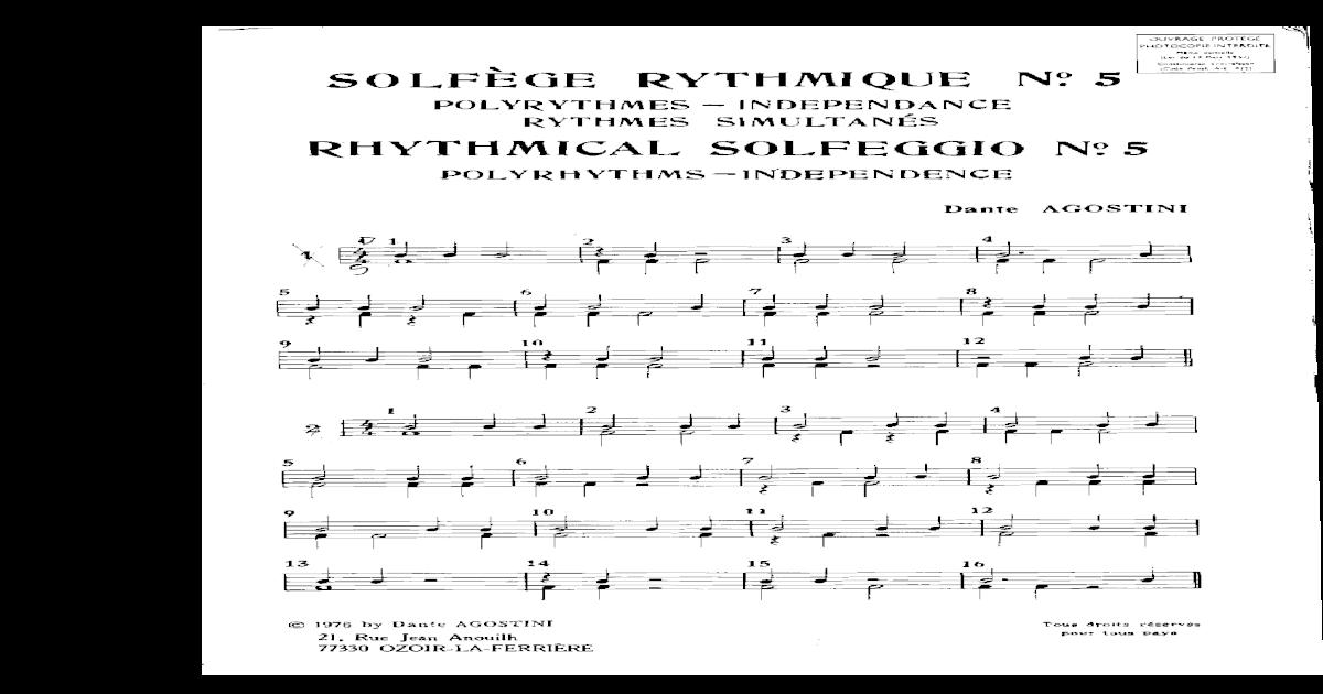 Dante Agostini Solfeggio Ritmico Volume 1 | eBay