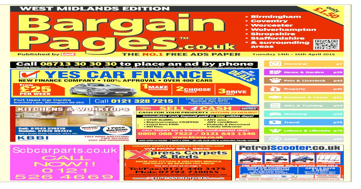 Bargain Pages West Midlands April 14th 2015