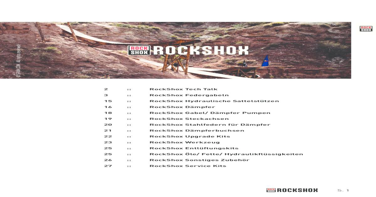 RockShox Lyric Dual Position Air 2012-2015 Gabel Service Kit Basic