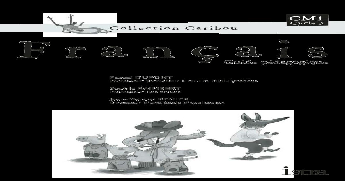 Caribou Livre Du Maitre Cm1