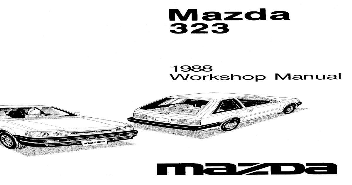 1986-1989 Mazda 323 BF Workshop Manual