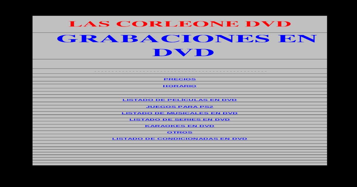 Las Corleone Dvd@Hotmail