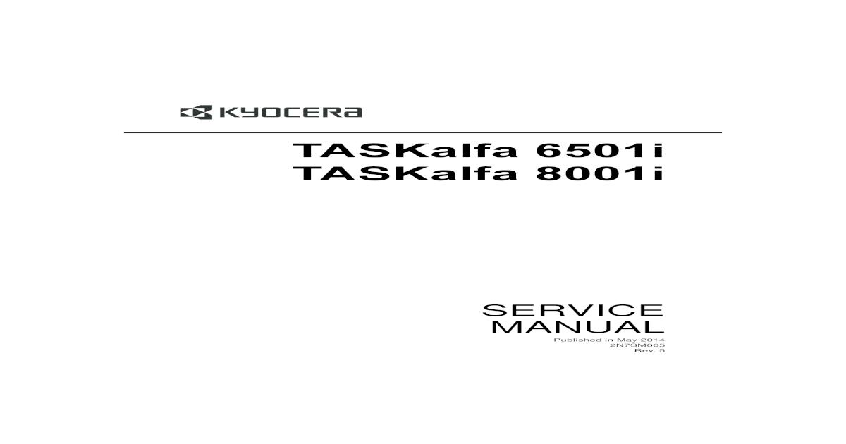 6501i-8001i Manual de Servicio r5