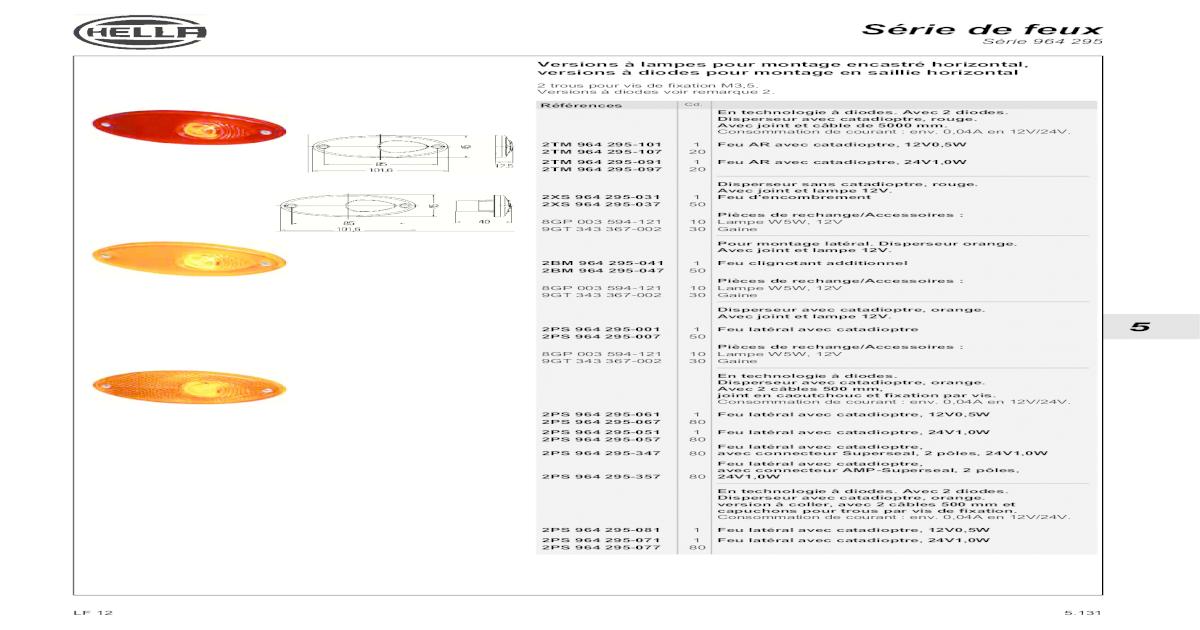 HELLA 1E7 271 510-311 Projecteur principal Sans feux//phares de virages gauche