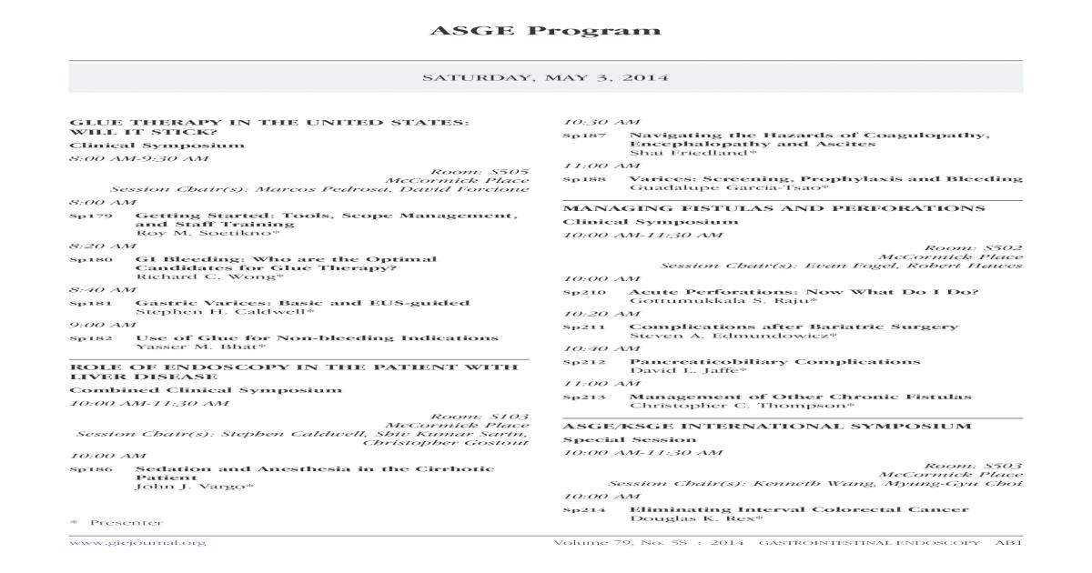 Asge Program