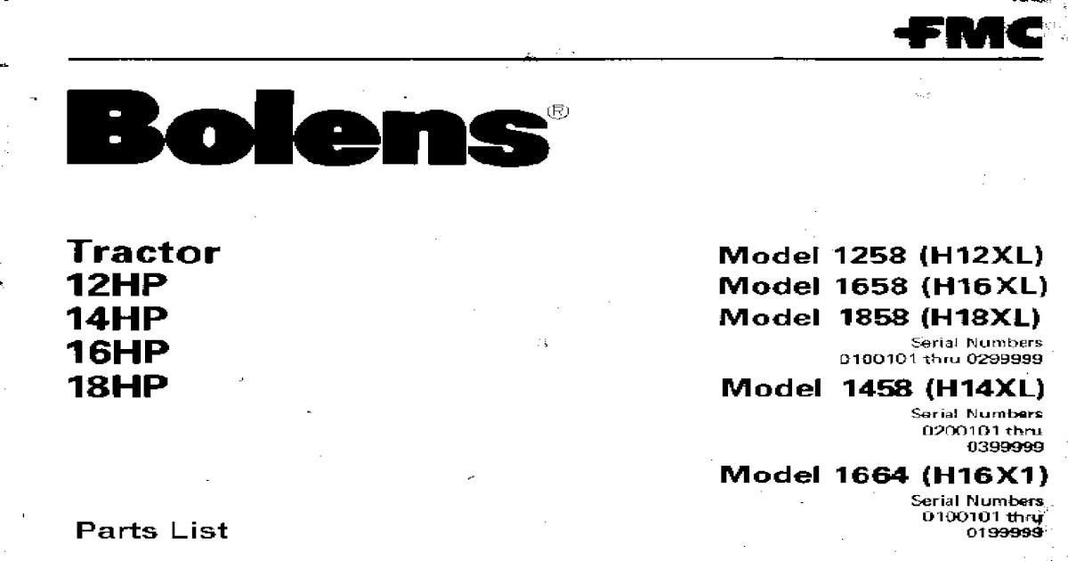 Bolens H16XL Manual