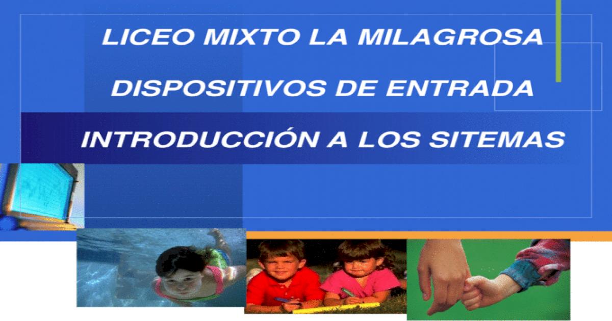 Company LOGO LICEO MIXTO LA MILAGROSA DISPOSITIVOS DE ENTRADA ...