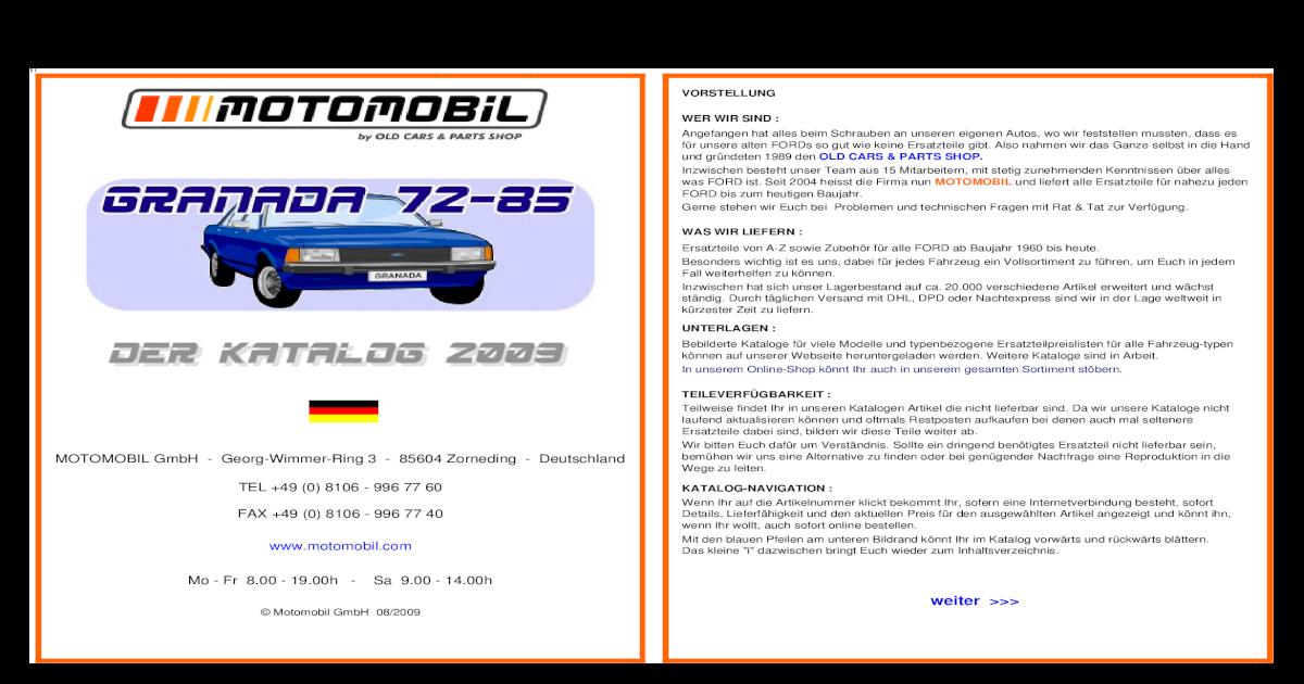 Ford Granada MK2 2.8i Genuine Fram Engine Air Filter Service Replacement