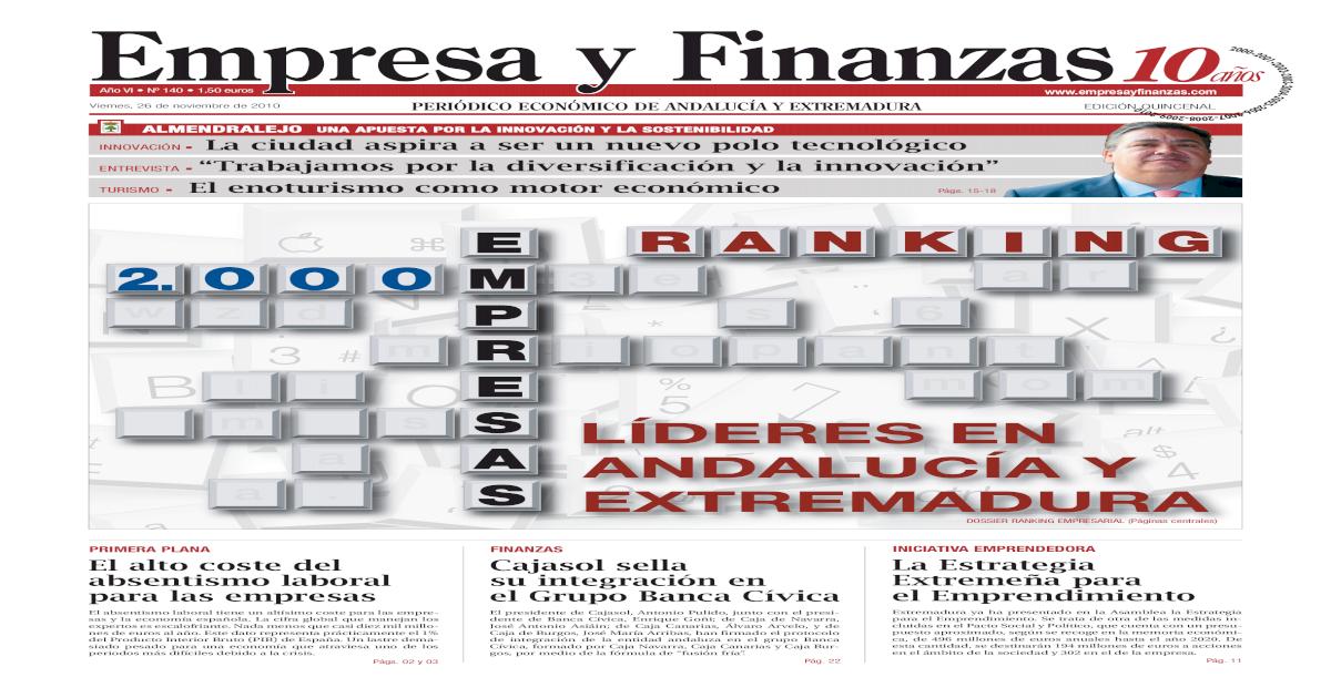 Empresa Y Finanzas Nmero 140
