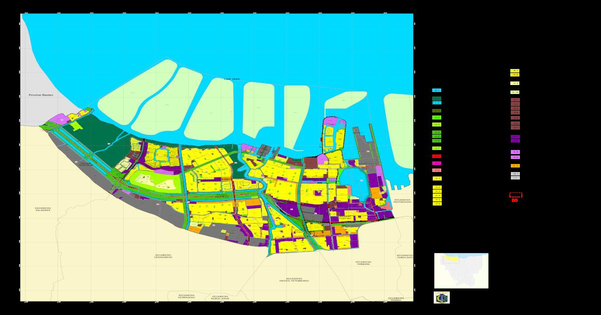 Peta Zonasi Kecamatan Penjaringan, Jakarta Utara