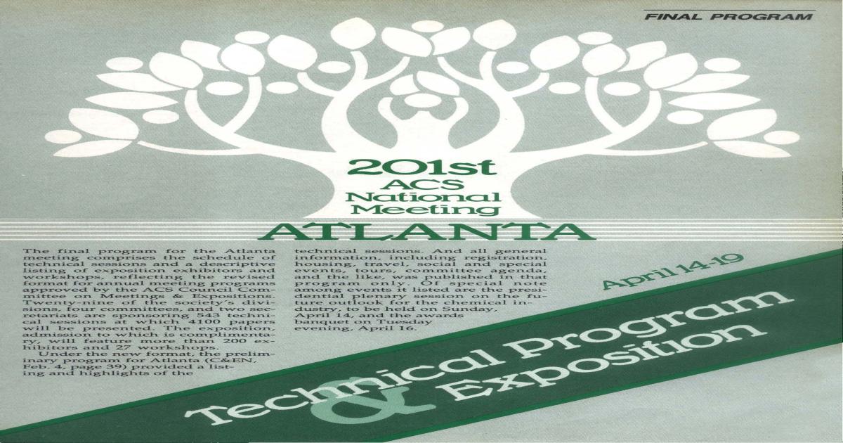201st National Meeting ATLANTA