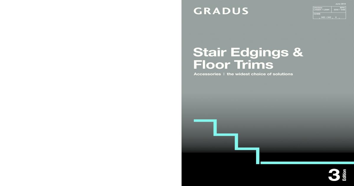 Gradus Stair Edgings Floor Trims Catalogue June 2015