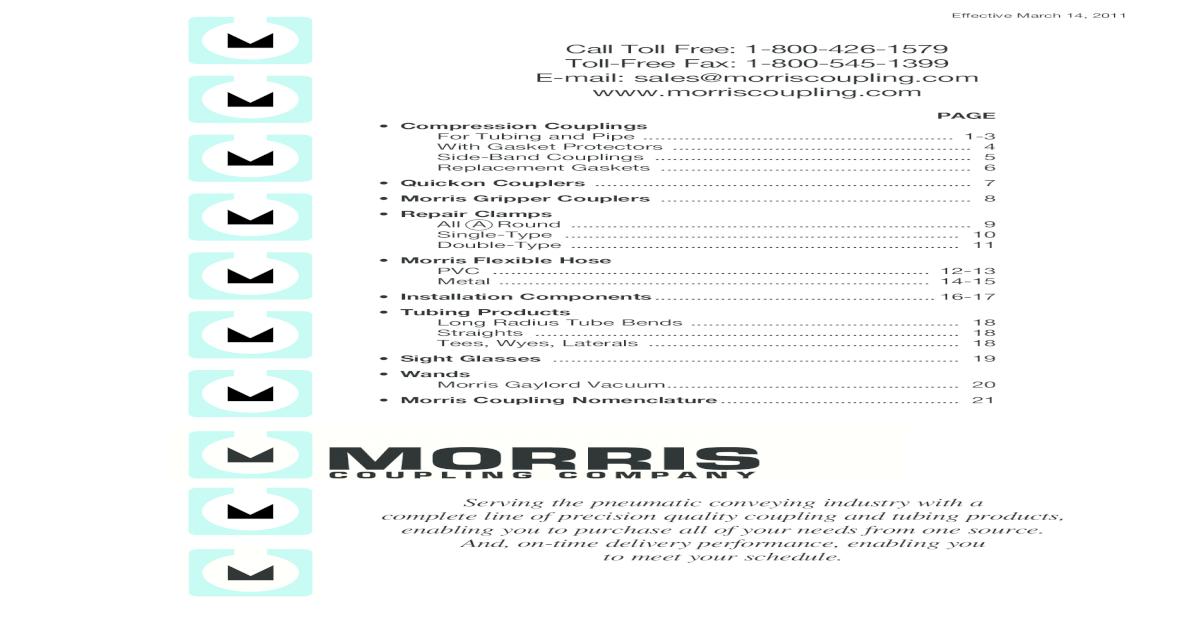 Morris Coupling 6-4C-OD 152.4 MM OD