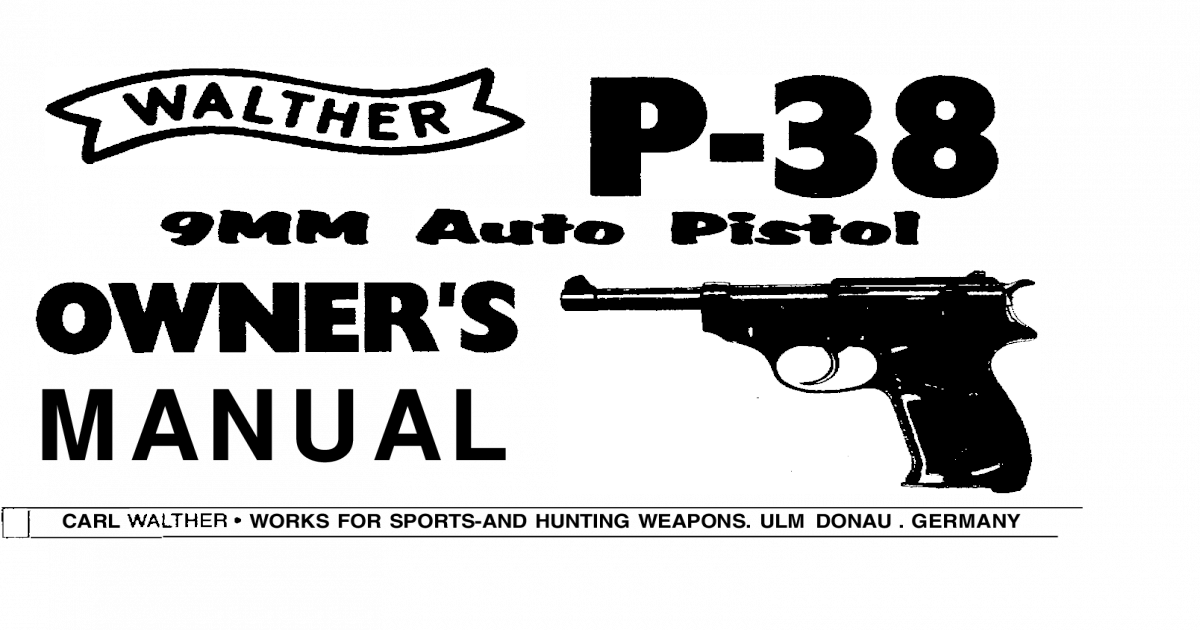 Walther P38 Manual