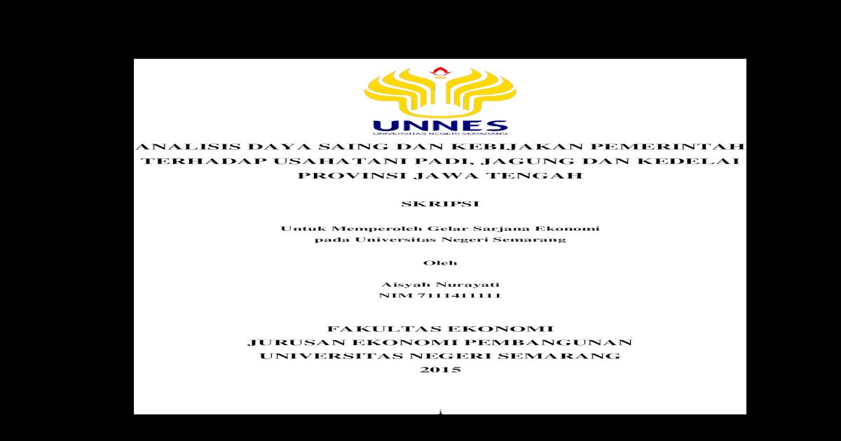 Analisis Daya Saing Dan Kebijakan Pemerintah Lib Unnes Ac Id 22944