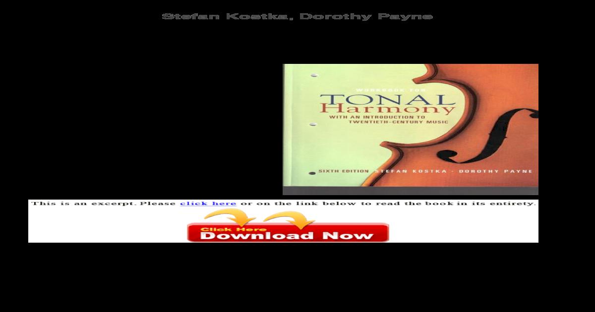 Bestseller: Tonal Harmony 7th Edition Workbook Answer Key Pdf