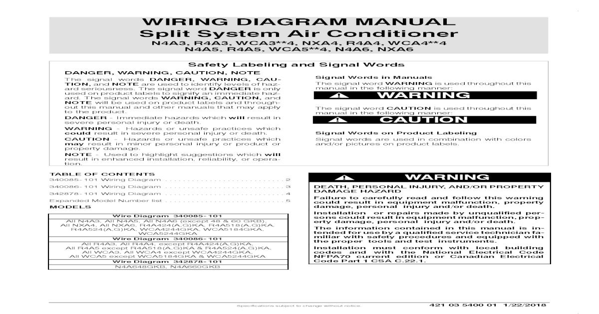 Air Conditioner Wiring Diagram Pdf Download Manual Guide