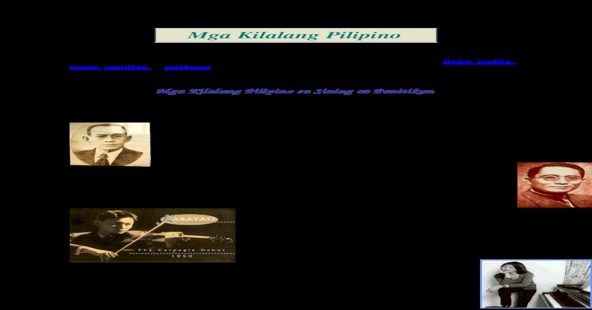 Mga Kilalang Pilipino