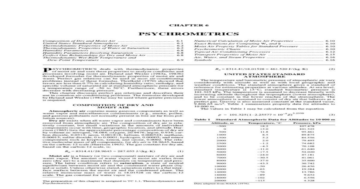 Ashrae 1997 Hvac Fundamentals Handbook pdf