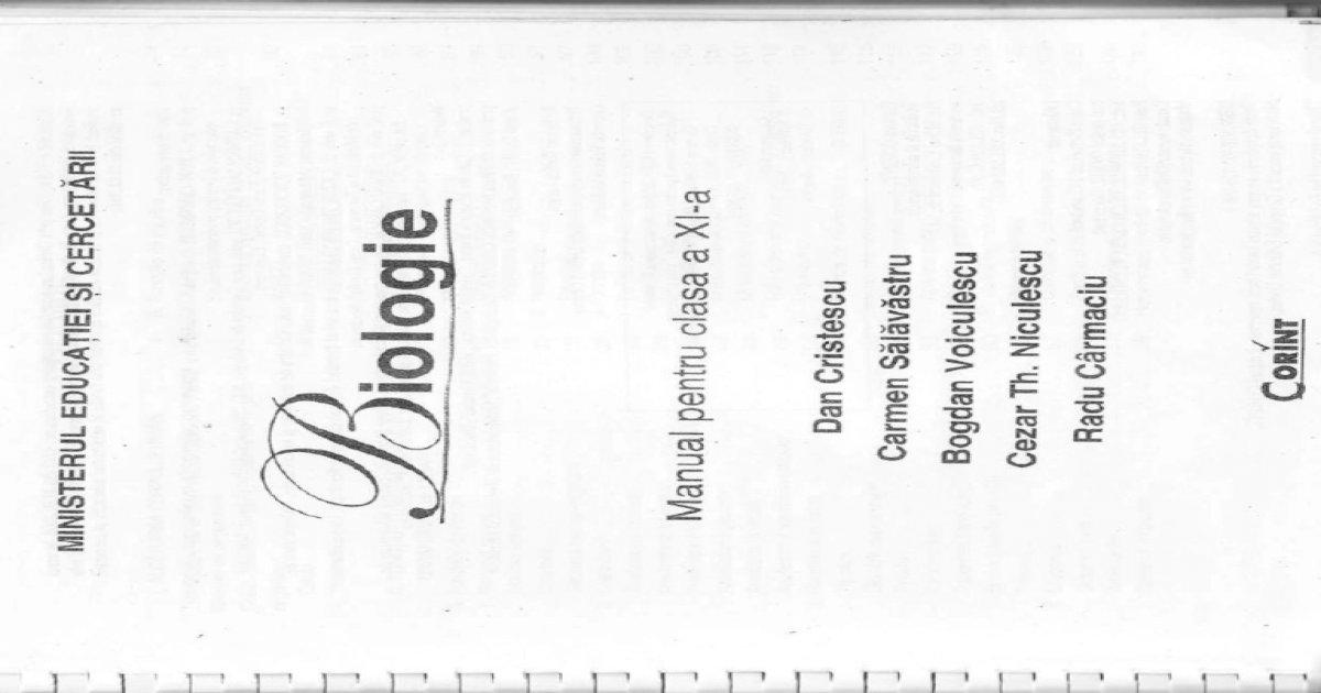 Fileshare.ro Manual Biologie Clasa Xi Corint