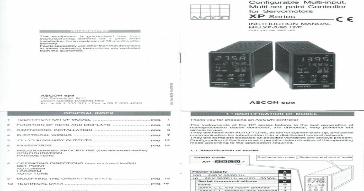 Ascon Series XP Manual