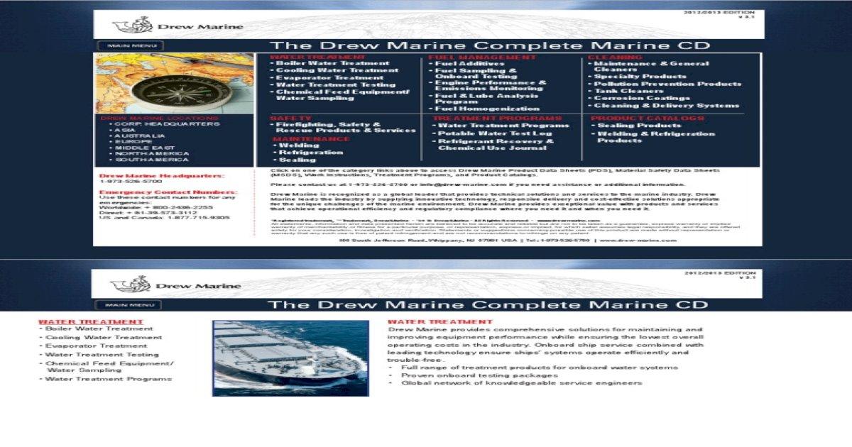 Drew Marine Chemical Manual