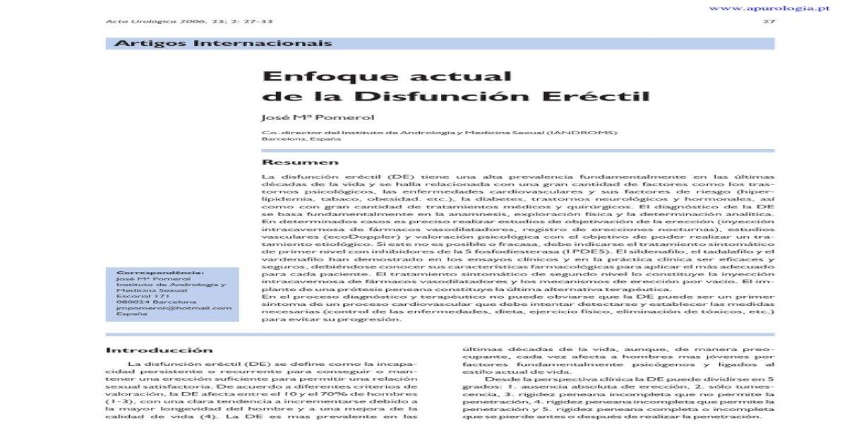 disfunción eréctil por uretrotomía