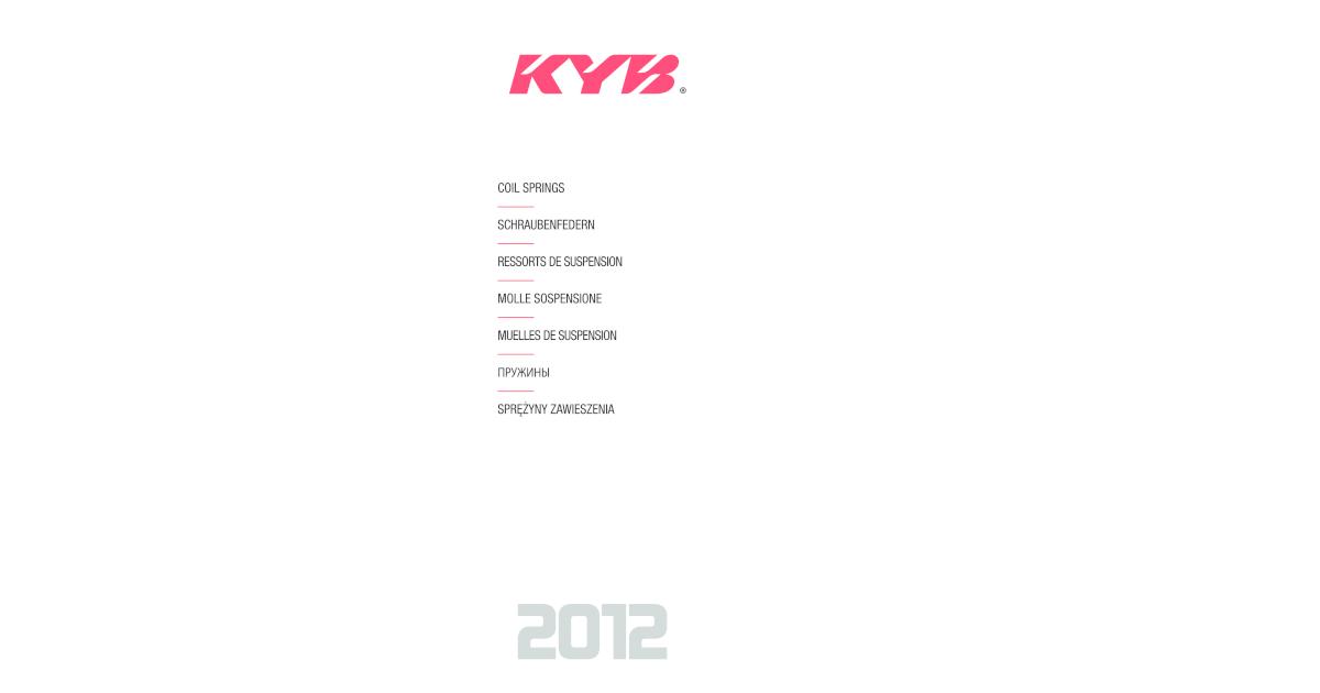 Ressort de suspension K-Flex-KYB rh2950