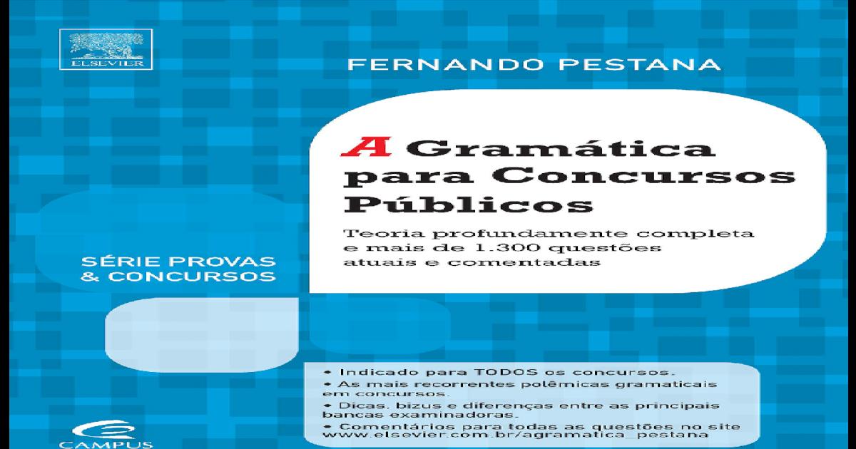 A gramatica para concursos publicos fernando pestana - pdf