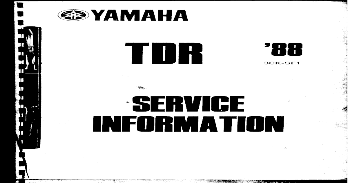 Yamaha Tdr 250 Service Manual