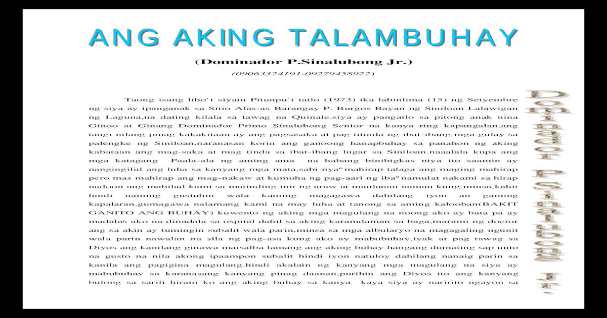 Ang Aking Talambuhay