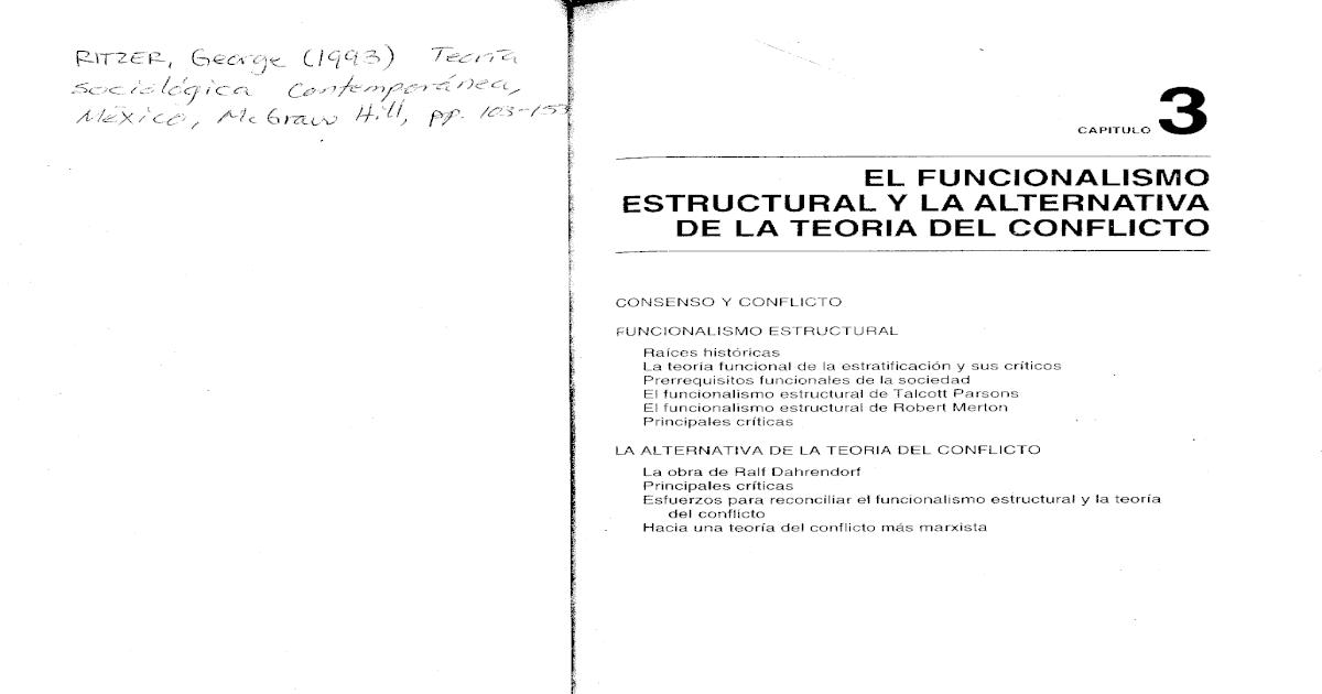 06 Ritzer 1993 El Funcional Estructuralismo Y La