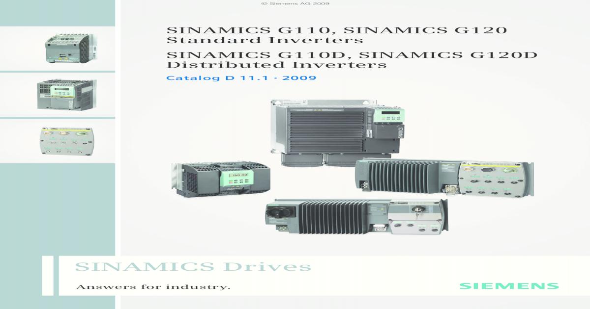 Siemens 6SL3211-0AB21-1AA1 Sinamics G110 CPM110 AC-DRIVE analog IN 1.1KW