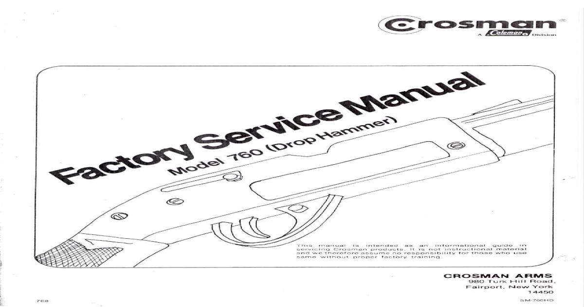 Crosman 760 Factory Service Manual
