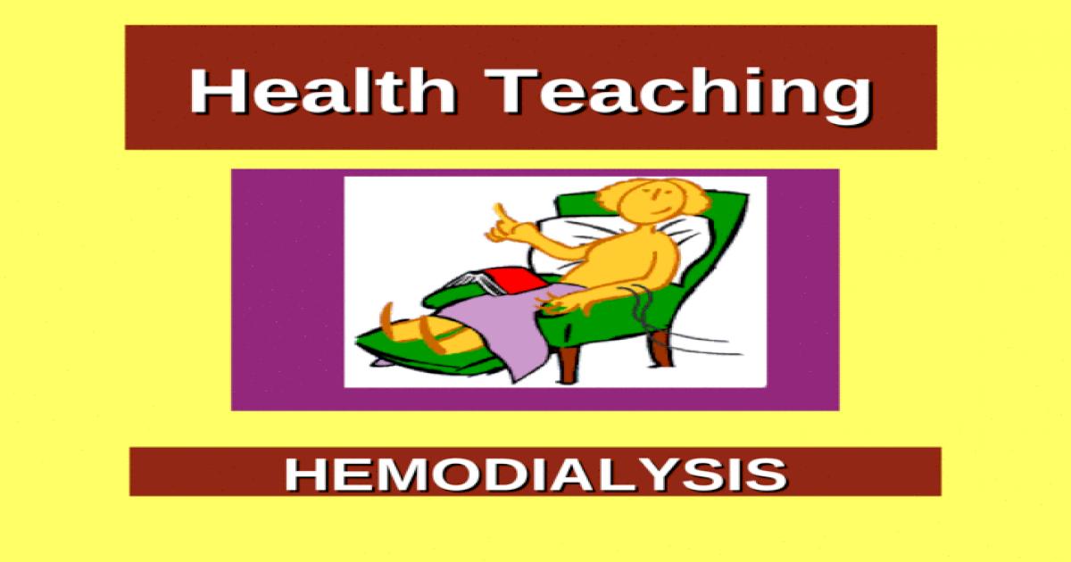 Health Teaching on Hemodialysis