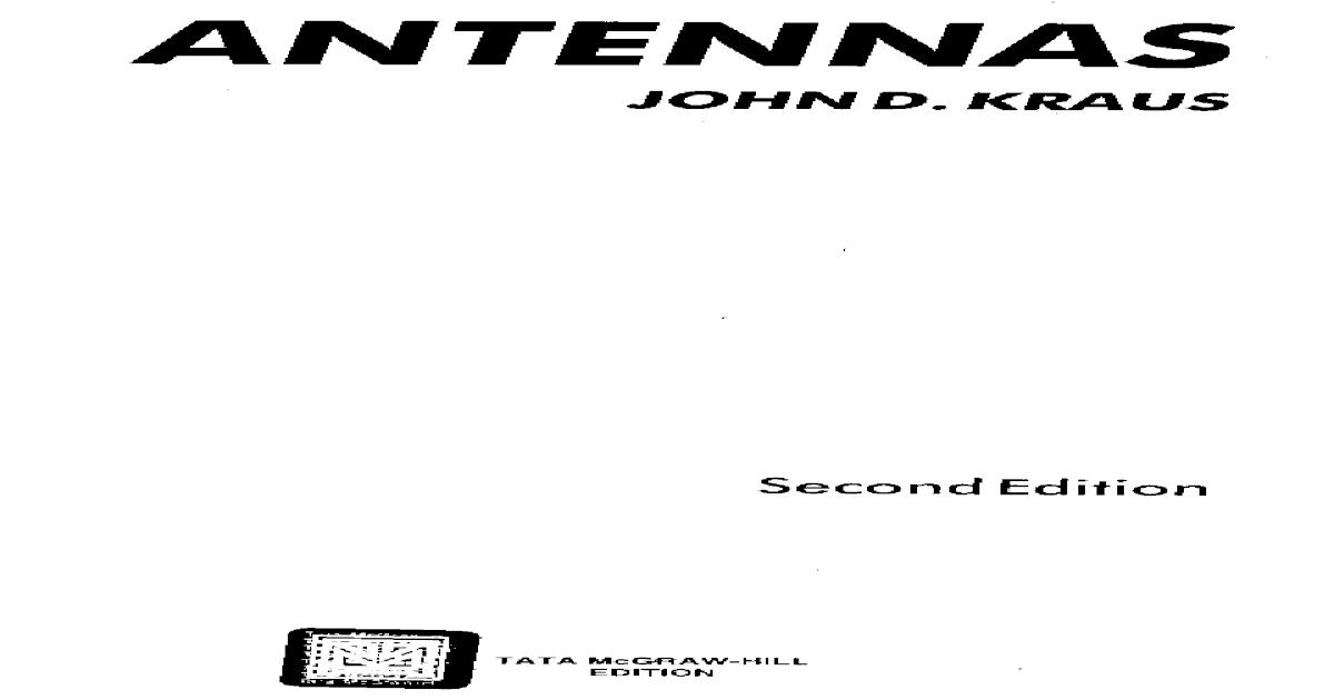 Antennas Mcgraw-hill 2nd Ed 1988-John d Kraus