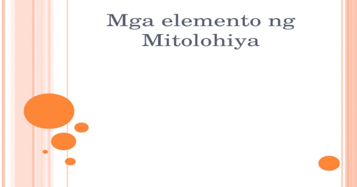 Mga elemento ng mitolohiya