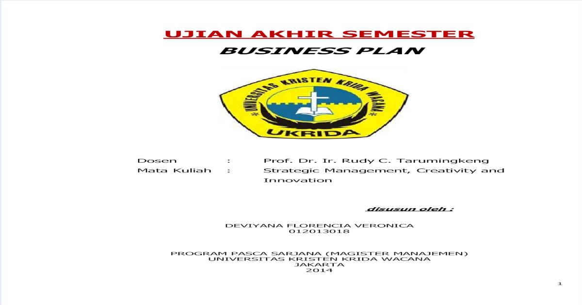 Contoh Bisnis Plan Sederhana Untuk Mahasiswa Berbagai Contoh
