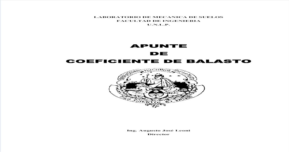 Apuntes Coeficiente De Balasto