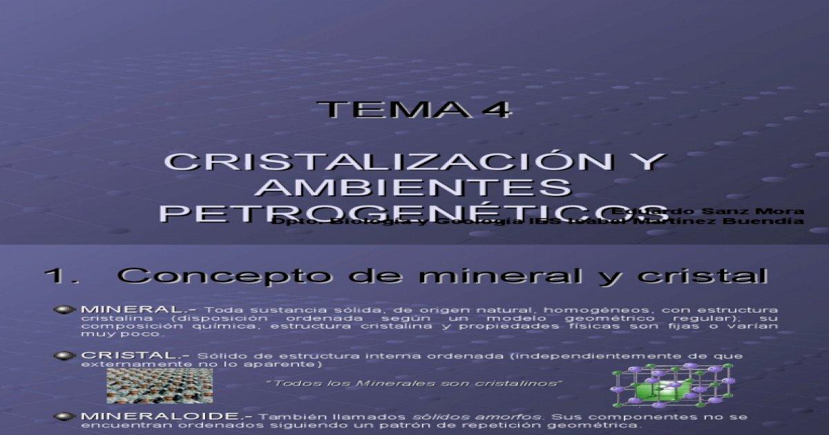 Cristalografa 1 Bachillerato Biologa
