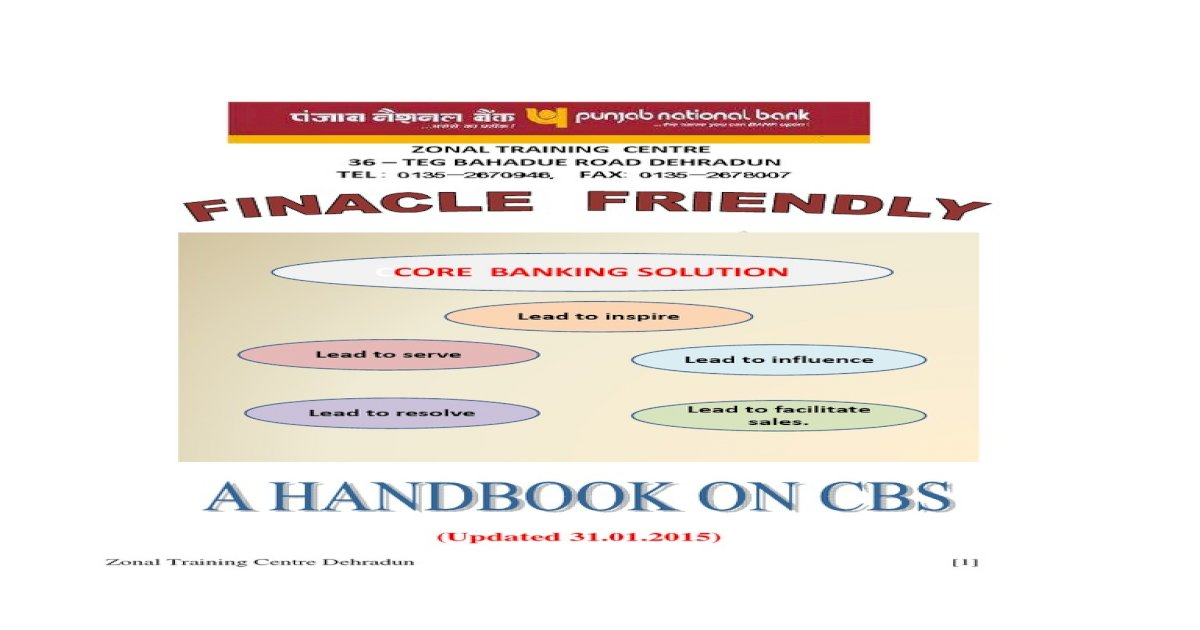 Finacle Friendly_a Handbook on Cbs