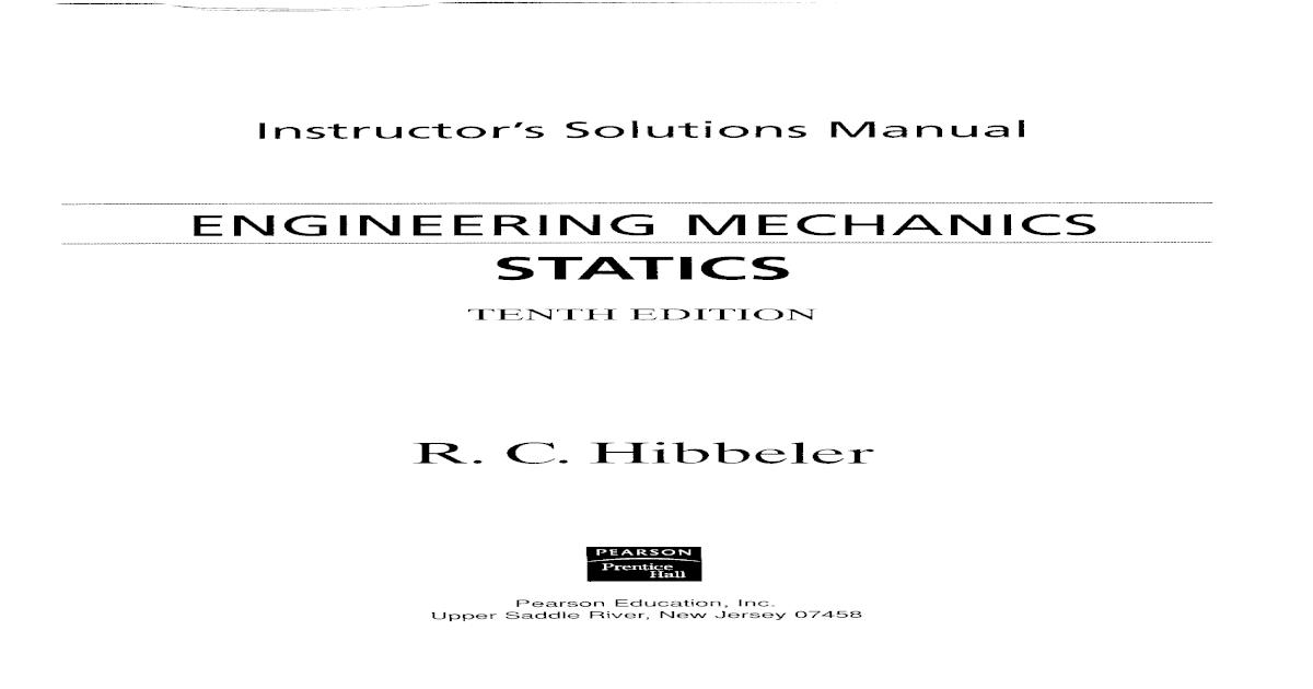 estatica russel hibbeler pdf solucionario 12 edicion pdf español