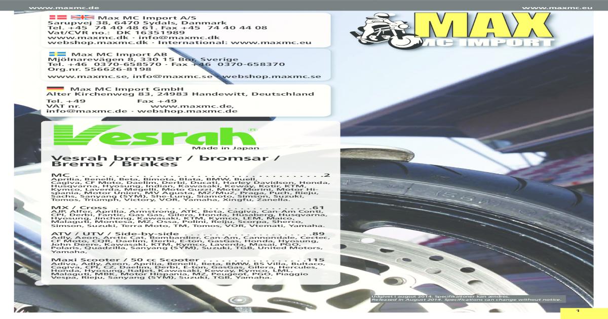 03-06 VESPA GT 125 GT125 L Granturismo REPLICA FRONT DISC BRAKE PADS PIAGGIO