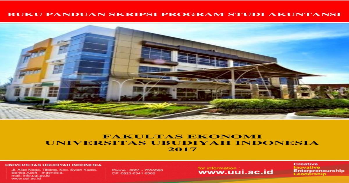 Fakultas Ekonomi Universitas Ubudiyah Indonesia Fakultas Ekonomi