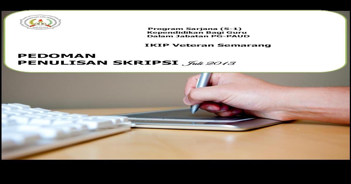 Pedoman Penulisan Skripsi Juli 2013 Ivet Ac Id 5 Surat