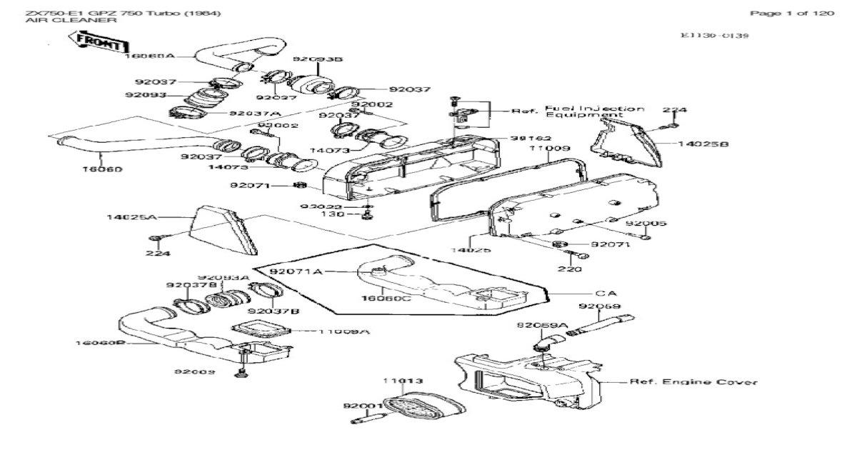 Kawasaki ZX750E1 Parts Manual