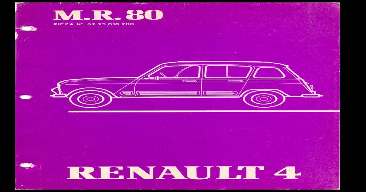 Renault 4 Gtl 1985 Mr80