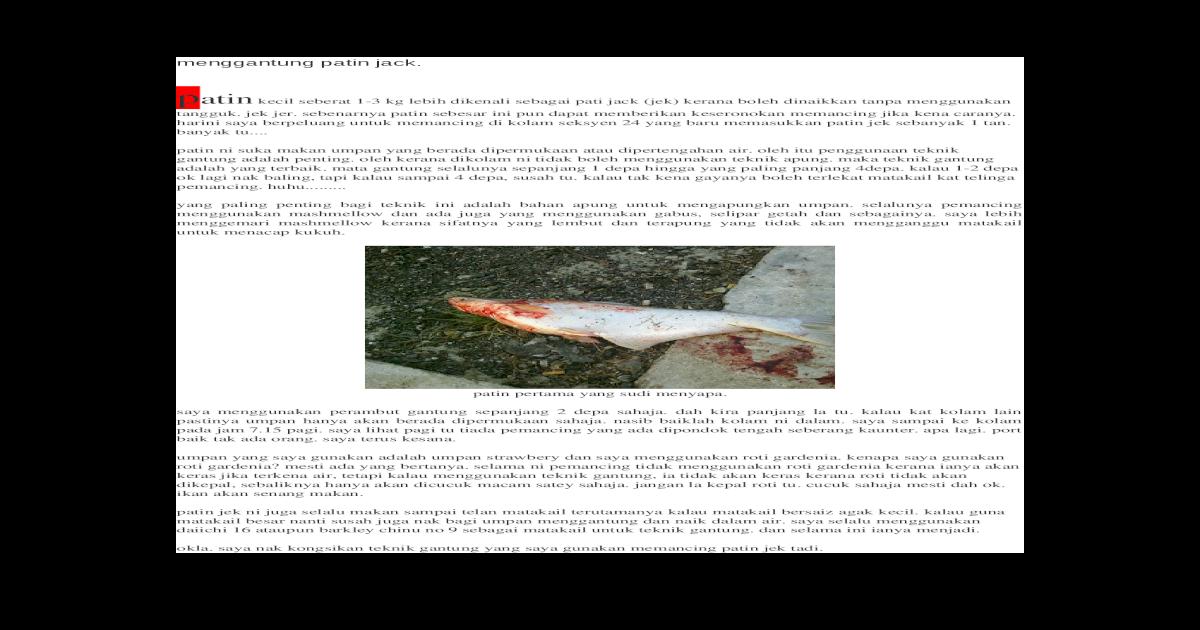 Perambut Ikan Patin Kolam - InfoAkuakultur.com